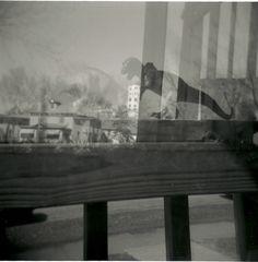 """Dinosaur"" Minneapolis, MN - 2010   * Black and White *  Holga Film Camera *  Deb Carneol Original"