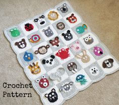 Crochet Zoo Baby Blanket Pattern Is The Cutest Ever