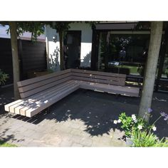 Nieuw in het assortiment Uitstekend zi Outdoor Sofa, Outdoor Living, Outdoor Decor, Outside Furniture, Outdoor Furniture, Built In Seating, Garden In The Woods, Garden Structures, Wood Art