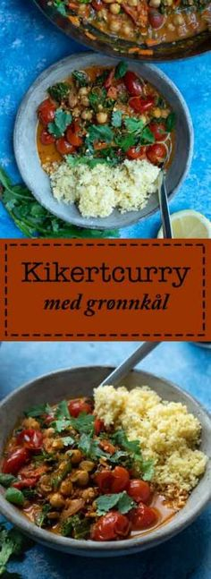 Kikertcurry med grønnkål - Kvardagsmat Couscous, Kung Pao Chicken, Easy Peasy, Quinoa, Chili, Spicy, Curry, Pasta, Ethnic Recipes