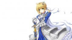 Wallpaper saber - fate stay night, girl, blonde hair, armor, sword