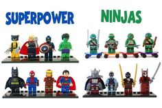 Set of 8 Building Block Figures - 6 Styles  Everything is Awesome!  51% OFF