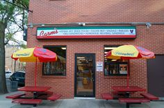 A sign you're in Chicago? Carm's, off Taylor Street, for beefs and Italian ice, since 1929 (Chicago Pin of the Day, 11/13/2014).