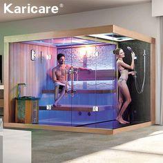 Source sauna and steam bath / sauna and steam room / sauna - Modern