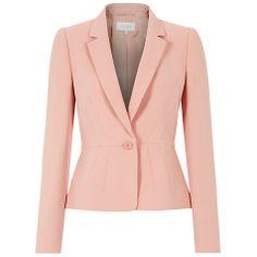 Buy Hobbs Invitation Snowdonia Jacket, Mellow Pink Online at johnlewis.com
