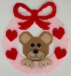 Valentine's Day Wreath with Bear $3.49