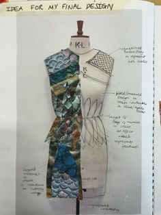 Fashion Sketchbook - fashion design development; fashion sketching; creative process; fashion portfolio // SJD, Emma                                                                                                                                                                                 Más