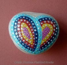 Painted rock heart by lolita