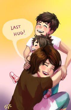 Aunt Cass, Hiro and Tadashi - big-hero-6 Fan Art