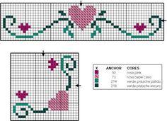 Schema punto croce Romantico