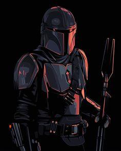Ver Star Wars, Star Wars Fan Art, Star Wars Clone Wars, Star Trek, Images Star Wars, Star Wars Pictures, Mandalorian Armor, Mandalorian Poster, Cuadros Star Wars