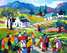 Artwork of Isabel le Roux exhibited at Robertson Art Gallery. Original art of more than 60 top South African Artists - Since Landscape Art, Landscape Paintings, Landscapes, Modern Impressionism, South African Artists, Amazing Drawings, Whimsical Art, Types Of Art, Sculpture