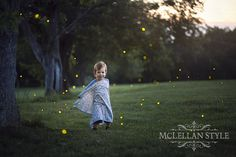 Lightning Bugs (otherwise known as fireflies). (Children's Photography)