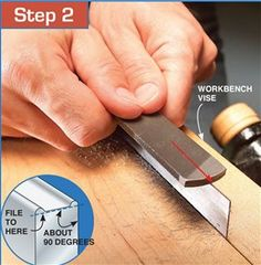 Foolproof Scraper Sharpening - Card scraper / Ziehklinge - Woodworking Techniques... A card scraper (also known as a cabinet scraper) is a woodworking shaping and finishing tool. It is used to manually remove small amounts of material and excels in tricky grain areas where hand planes would cause tear out. Card scrapers are most suitable for working with hardwoods, and can be used instead of sandpaper. Scraping produces a cleaner surface than sanding; it does not clog the pores of the…