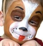 The dog art face painting pretty makeup fantasy - maquillaje fantasia pintacaritas perro ♛
