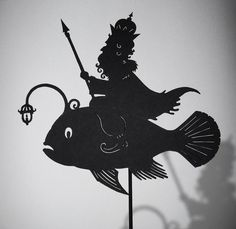 Morskoi Tsar - Shadow Puppet by IsabellasArt on deviantART Shadow Theatre, Toy Theatre, Kobold, Puppet Show, Steampunk Design, Shadow Art, Russian Folk, Shadow Puppets, Doll Maker