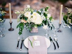 Elegant Ivory and Green Centerpiece | photography by http://www.krystleakin.com/