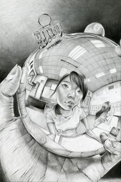 Escher inspired reflection self-portraits - What background and round object will your students choose to represent themselves?
