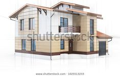 Technical Drawing House Villa On Stock Illustration 1025513233 Technical Drawing, Royalty Free Stock Photos, Villa, 3d, Architecture, Drawings, Illustration, House, Image
