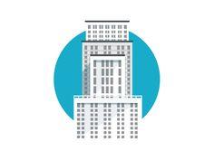 Building illustration / Flat illustration / #flat