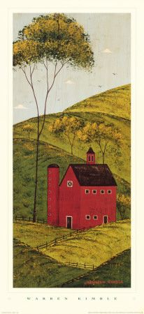 Country Panel II, Barn by Warren Kimble |Pinned from PinTo for iPad| |Pinned from PinTo for iPad|