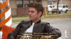 """SOUND THE ALARM: Zac Efron Said That A """"High School Musical"""" Reunion Is Possible HOPE AND PRAY PEOPLE HOPE AND PRAY"""