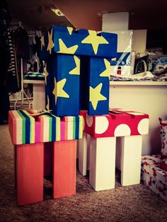 Designer Wooden Children / Toddler Stools...www.alexisbarncreates.com available from 'Little Hampshire' Andover
