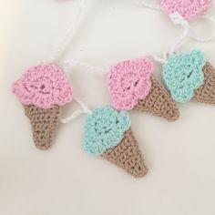 littlefoxcrochet crochet ice cream cones