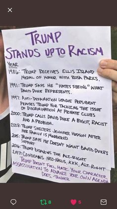 """""""The next time a liberal wants to claim Trump is a """"racist"""", show them this. Trump has cared more for blacks, Hispanics etc his whole life and has done more for minorities than democrats and Obama could ever dream of doing. Donald Trump, Liberal Logic, Stupid Liberals, Liberal Tears, Trump Is My President, Trump Train, Political Views, Political Topics, Conservative Politics"""