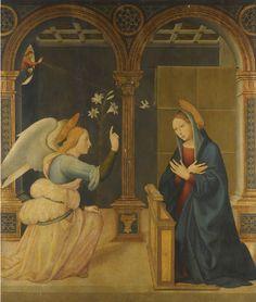 Annonciation, Leonardo di Bernardino da Pistoia, début du XVIe siècle