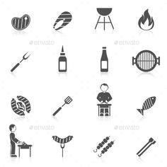 Bbq Grill Icon Black — Vector EPS #fire #equipment • Available here → https://graphicriver.net/item/bbq-grill-icon-black/10055273?ref=pxcr