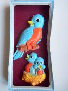 Vintage Miller Studio Blue Bird Wall Hangings by WylieOwlVintage, $20.00