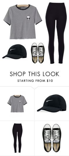 """""""day out"""" by haileyhoksbergen on Polyvore featuring NIKE, Converse, women's clothing, women, female, woman, misses and juniors"""