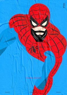 Pôster Série Super-Heróis Barbudos #Spider_man #hq #quadrinhos #design #posters