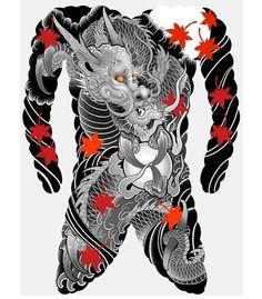 Full Back Tattoos, Full Body Tattoo, Body Art Tattoos, Tattoo Art, Japanese Tattoo Symbols, Japanese Dragon Tattoos, Tattoo Japanese, Face Painting Tutorials, Face Painting Designs