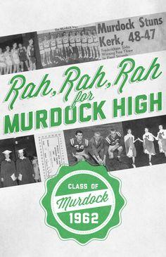 Murdock 50th High School Reunion by Luke Geiger, via Behance