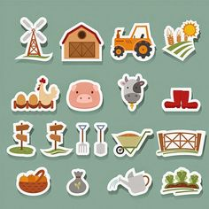 Format : Eps  Size : 0.3 Mb  Author : dryopus   Once you download Set Farm Sticker in .eps file f...