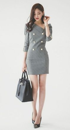 2020 Interesting Office Outfits for the Boss Ladies - Vincisjournal Korean Girl Fashion, Ulzzang Fashion, Asian Fashion, Mode Outfits, Office Outfits, Fashion Wear, Fashion Outfits, Womens Fashion, Classy Work Outfits