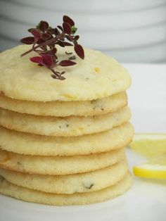 Welcome to LEMON WEEK at Red Couch Recipes! Who doesn& love the smell of lemons while grating or juicing them? Just Desserts, Delicious Desserts, Cookie Recipes, Dessert Recipes, Herb Recipes, Lemon Thyme Recipes, Food To Make, Delish, Sweet Tooth