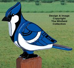 3D Animal Project Patterns - 3D Giant Blue Jay Woodcraft Pattern