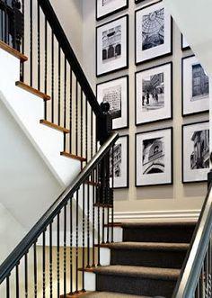 Decorating Ideas :: Photo Wall Inspiration #stairway_decor_flooring