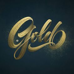"""9,118 Likes, 32 Comments - Type Gang (@type.gang) on Instagram: """"Gold! by @maztrone -- use #typegang to be featured -- #lettering #handlettering #typography #type…"""""""