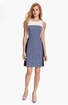 DKNYC Colorblock Print Dress available at #Nordstrom