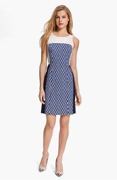 DKNYC Colorblock Print Dress   Nordstrom