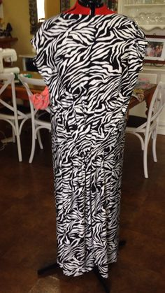Drape back dress