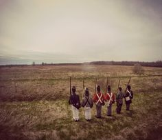 Soldiers at the Chippawa Battlefield.