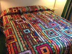 """Pinner wrote """"My Second Africa Quilt"""""""