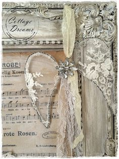 ❥ lace angel wings wrapped on wire