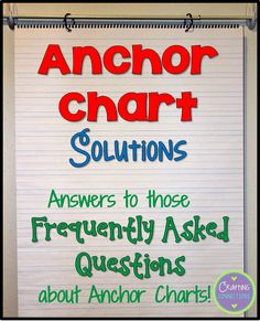 Anchor Chart Solutions