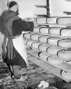 1944 In Photos: Making Cheese With The Trappist Monks Of Rochefort, Belgium